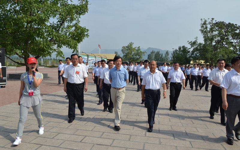 杨汭副省长,市委高书记视察